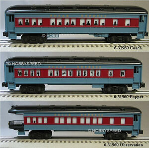 Lionel Polar Express Passenger Cars Set Of 3 Train Coach Puppet