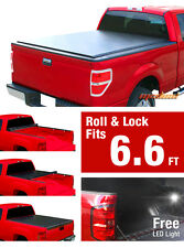 Premium For 2007-2013 Silverado/Sierra 6.6'Bed Low Profile Roll-up Tonneau Cover