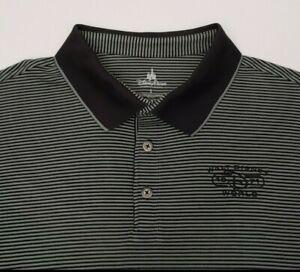 Walt-Disney-World-Men-039-s-Polo-Shirt-Size-Large-1971-Parks-D-Logo-Green-Stripe