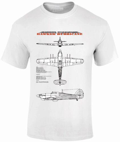 T-Shirts FPBP304 Hawker Hurricane Blue Prints Fantasy Printshop