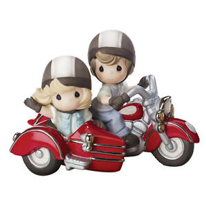 new precious moments figurine forever by your side motorcycle bike