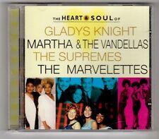 (GY612) Heart & Soul, Gladys Knight/Supremes/Marvelettes/Martha - 1997 CD