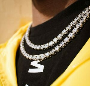 eb1617d273f32 Details about BRAND NEW GOLD GODS 6MM DIAMOND BUTTERCUP TENNIS CHAIN IN GOLD