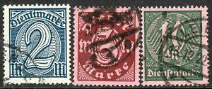 Alemania 1922 tipos oficial marca de agua ROMBO Perf 14 utilizado muy fino (3)