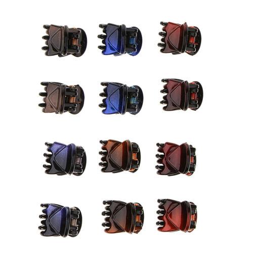12 Pezzi Mini Artiglio Capelli Resistente Leggero Strumento Moda Per Ragazze