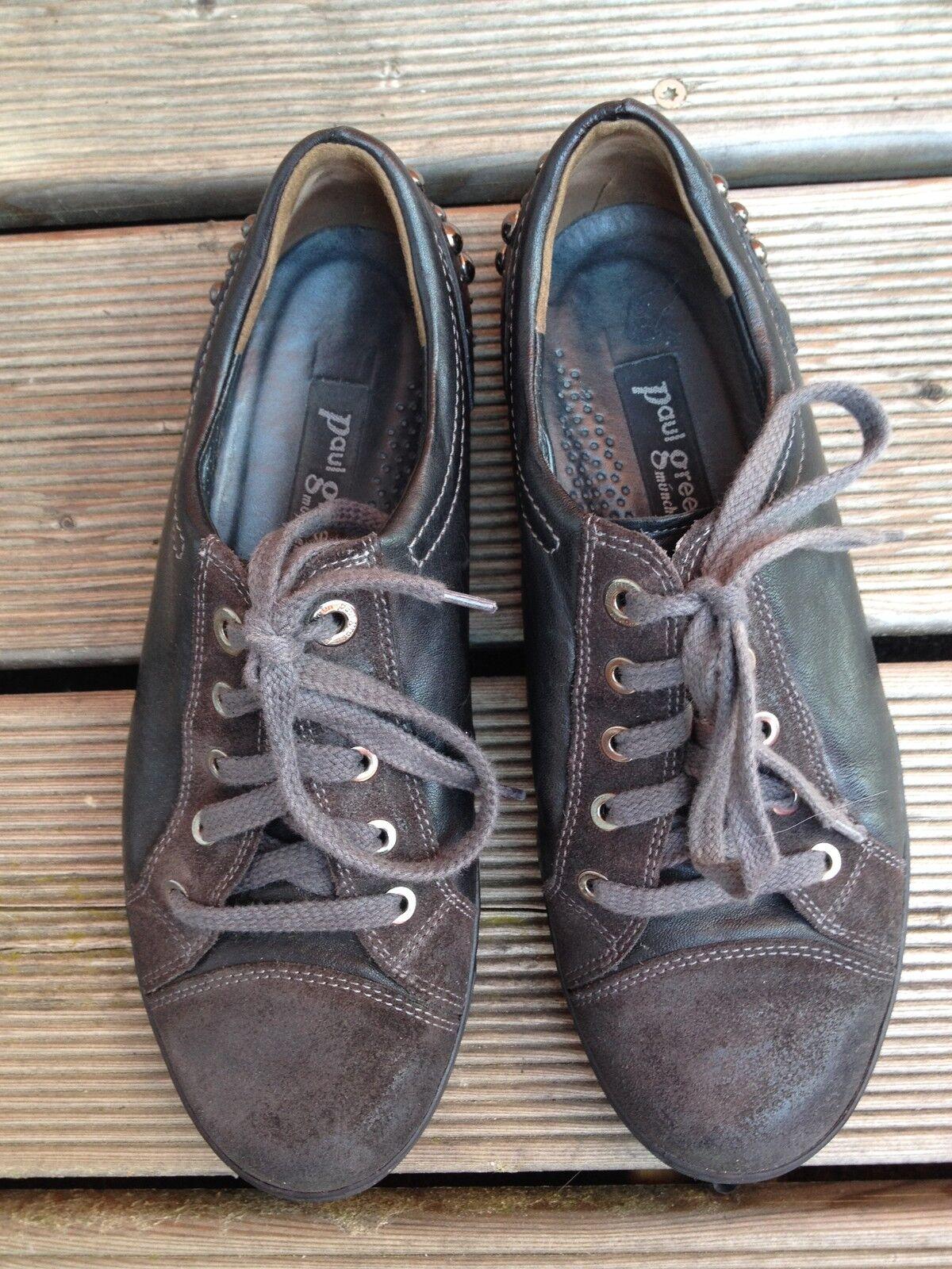 Paul Green Sneaker schwarz mit Nieten Leder Gr. 38 (5)