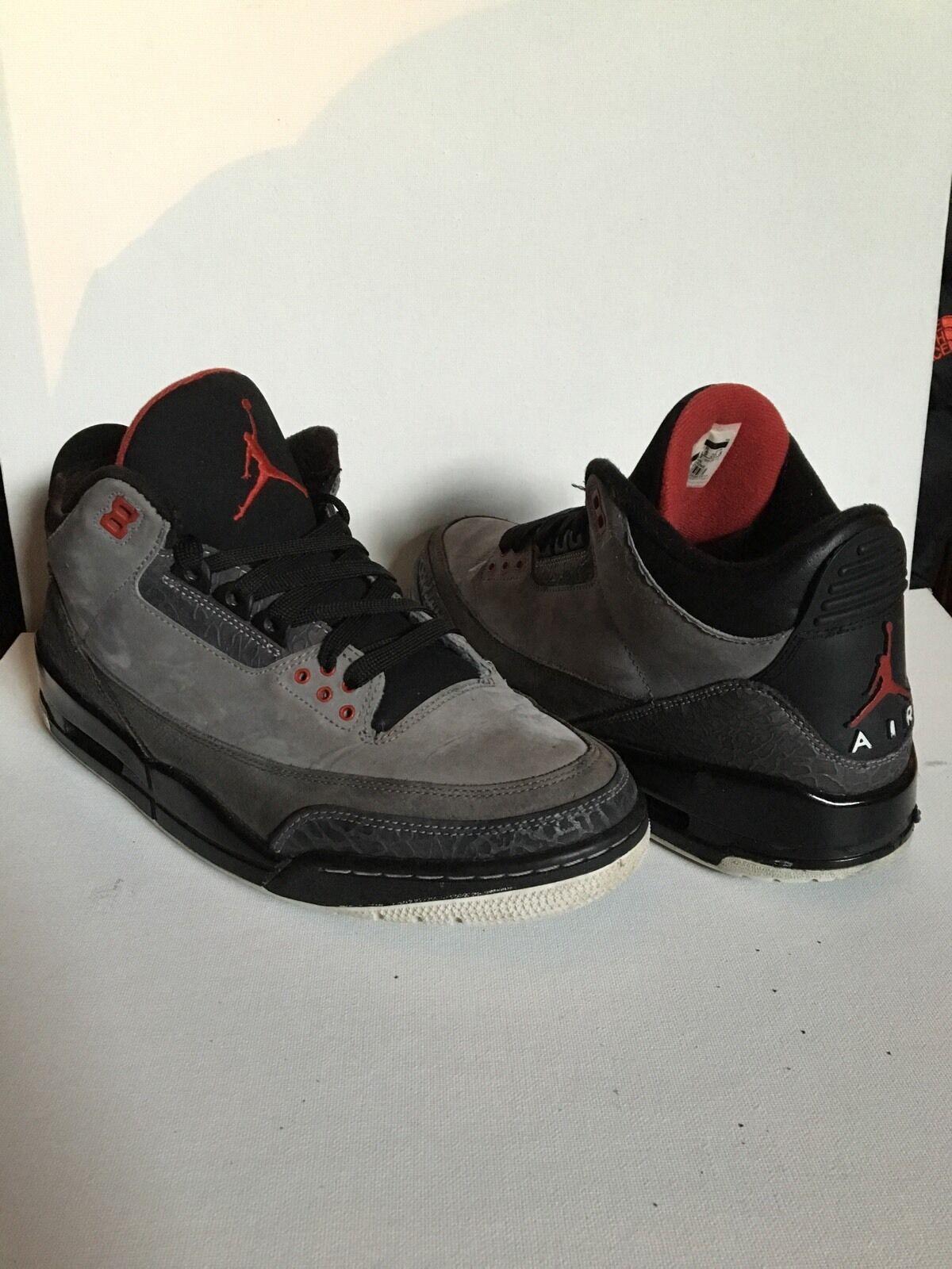 Jordan 3 Retro Stealth Size 10.5 Mens, Cement,True Blue, Bred,