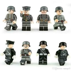Custom-German-Army-WW2-Police-Minifigures-Minifigs-Officers-Military-Toy-Set