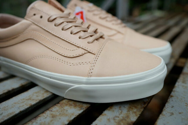 Vans Off the Wall Old Skool DX Veggie Tan Leather Shoes Mens 8.5 Womens 10 86a8f2aeb
