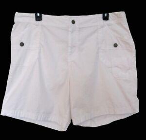 WHITE Shorts Plus Size 22W 22 2X Lane Bryant Casual Stretch Flat Front Trendy