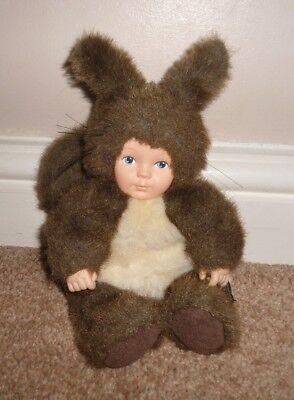 "Dolls Vgc Delicious In Taste Open-Minded Anne Geddes Cute 8"" Baby Rabbit Plush Doll Teddy"