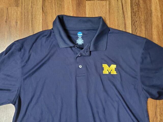 EUC Mens Polo Shirt MICHIGAN WOLVERINES NCAA Large L Mint!