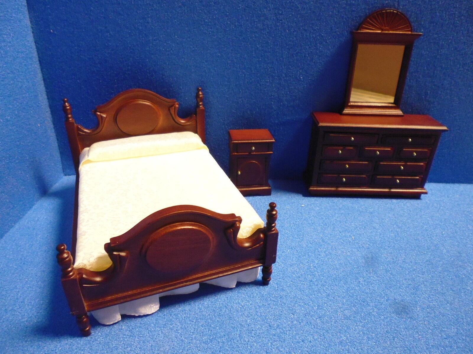 1 12 scala casa delle bambole mobili a da doppia camera da a letto set 99929 mA 9ae5c1