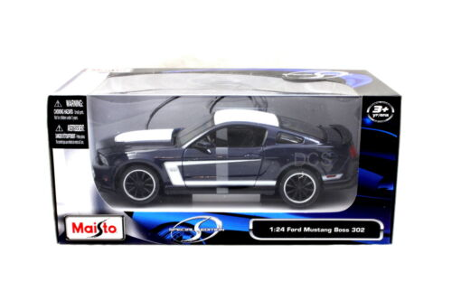 Maisto 2011 Ford Mustang Boss 302 Blue / White 1/24 Diecast car