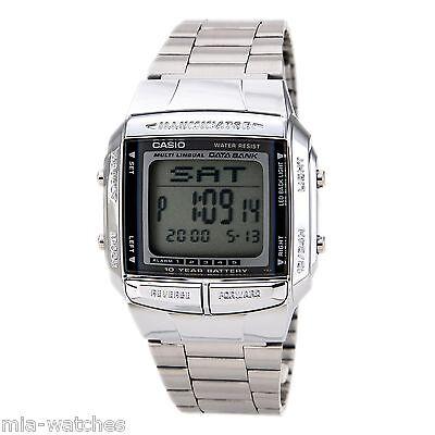 Casio DB360-1 Mens Multi Lingual Silver Stainless Steel Digital DATABANK watch