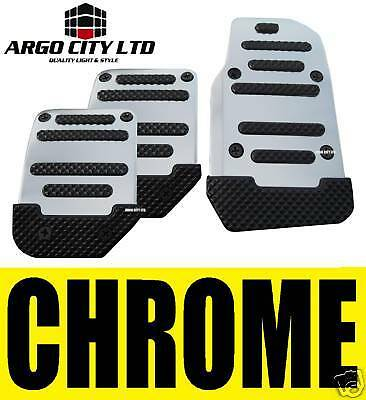 CHROME CAR FOOT COVERS PEDALS MG MGTF MG TF MGF ZR ZS