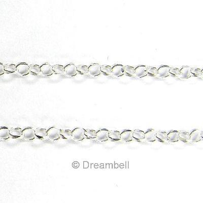 "12"" Sterling Silver Rolo Cable Chain SCN180W"