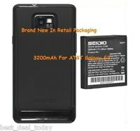 Seidio Super Extended Battery For Samsung Galaxy S2 S 2 Ii At&t I777 3200mah