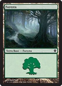 Forest 354 MTG MAGIC C13 Commander 2013 Ita 20x Foresta 354