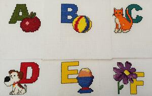 Mini-Alphabet-Cross-Stitch-Kits-with-DMC-Thread-5x5-cm-Individual-kits-A-Z