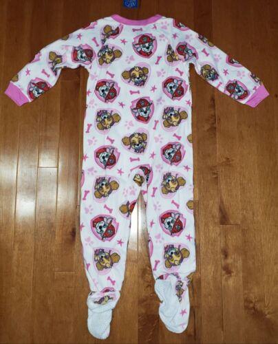 Paw Patrol Toddler Girl White Footed Blanket Sleeper Pajamas PJs New 5T