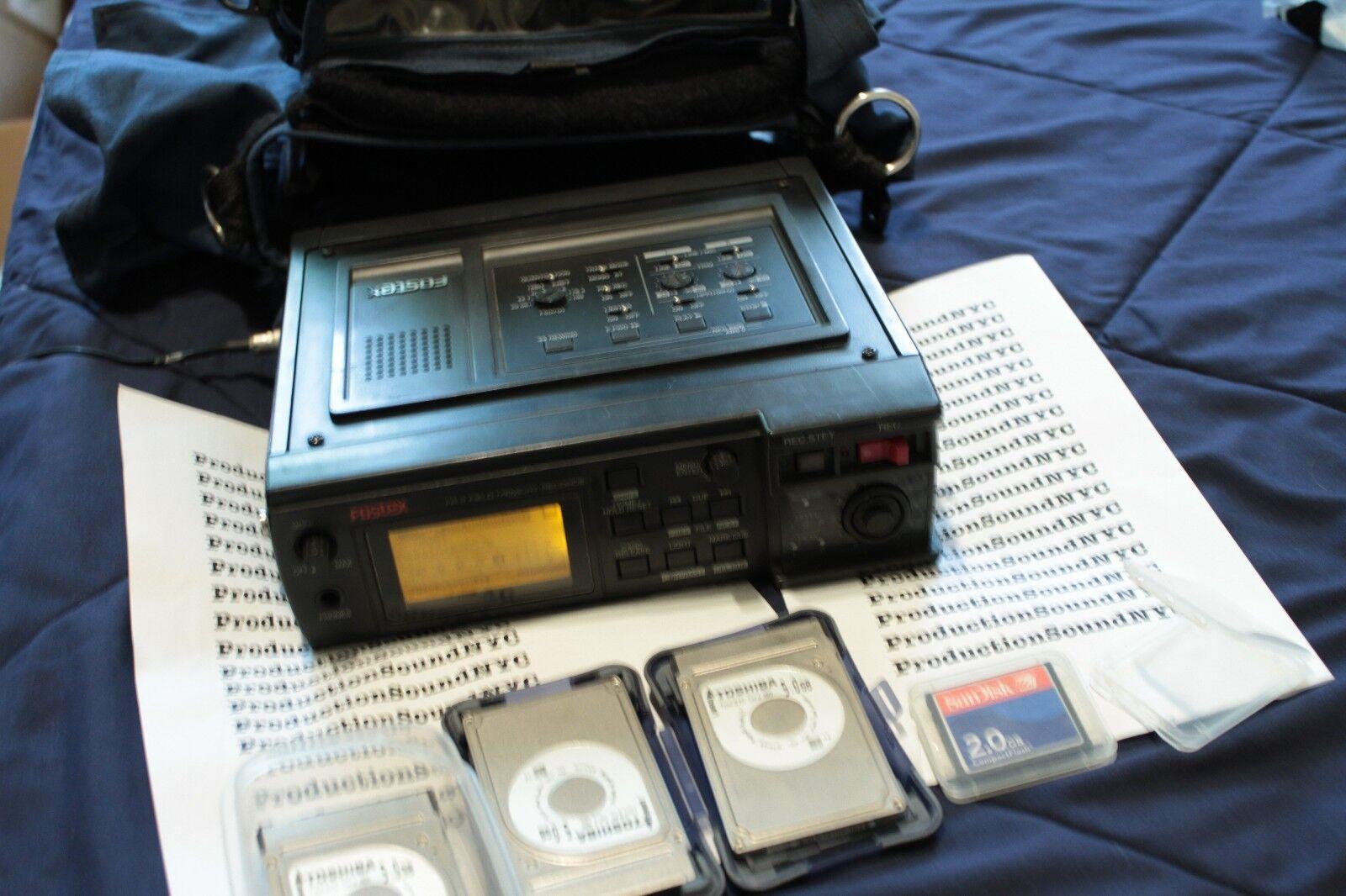 FOSTEX FR-2 FR2 portable audio recorder w  timecode - Portabrace - accessories