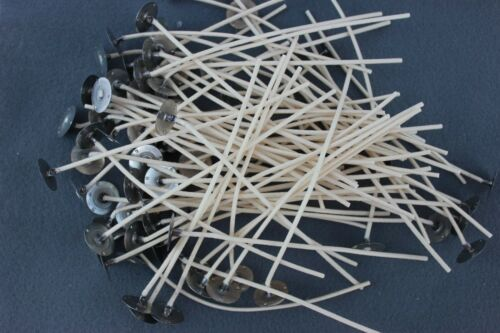 """Candle Wicks ~ 100  #585  6/"""" for candle making jars pillars votives"""