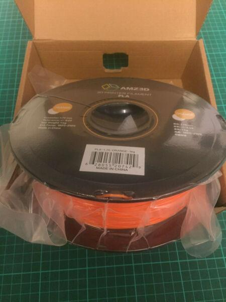 1.75mm Orange Pla 3d Printer Filament - 1kg Spool (2.2 Lbs) Uk Seller