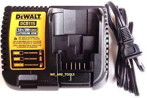Dewalt-DCB115-12V-20V-MAX-Lithium-Battery-Charger-For-Drill-Saw-Grinder-20-volt