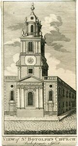 View-Of-St-Botolph-039-s-Church-Engraving-By-John-Cooke-IN-1770