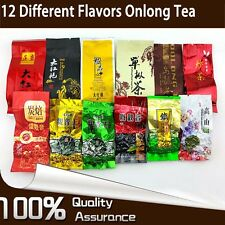 12 Different Flavors Oolong Tea Including Tieguanyin Dahongpao 93g in Total