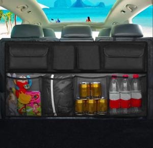 Auto-Car-Seat-Back-Multi-Pocket-Storage-Bag-Organizer-Holder-Hanger-Bag-Black