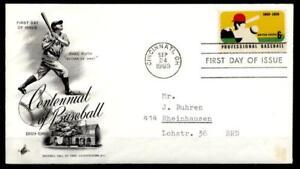 100 Ans Professionnel-baseball. Fdc-lettre. Usa 1969-. Fdc-brief. Usa 1969fr-fr Afficher Le Titre D'origine Performance Fiable