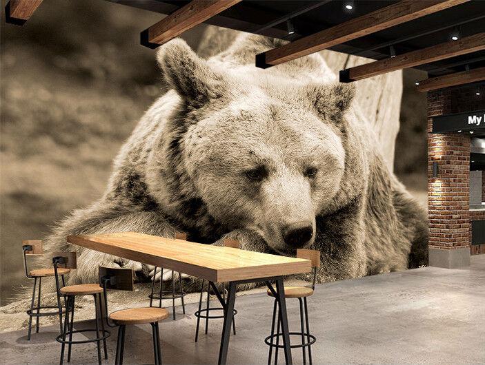 3D Wälder Schwarzer Bär 9963 Tapete Wandgemälde Tapeten Bild Familie DE Kyra