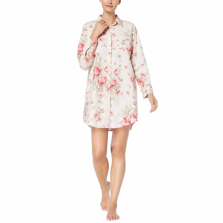 Lauren Ralph Lauren Women's Cotton Floral-Print Sleepshirt