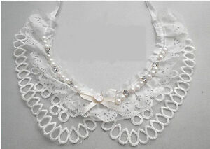 Cotton-Collars-Diamante-Necklace-Lace-in-Ivory-Vintage-Style-UK-Style-No-3