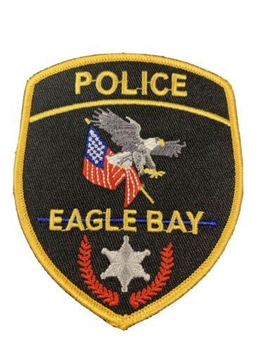 Eagle Bay Police Patch PD Blue Line