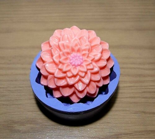silicone dahlia flower soap mold big flower candle mould homemade
