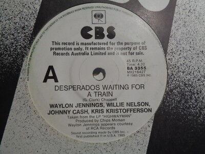 Highwaymen Desperados Waiting For A Train 1985 Cbs White Oz Promo 7 Ebay