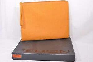 Fedon Leatherette Pochette for documents and tablet in orange