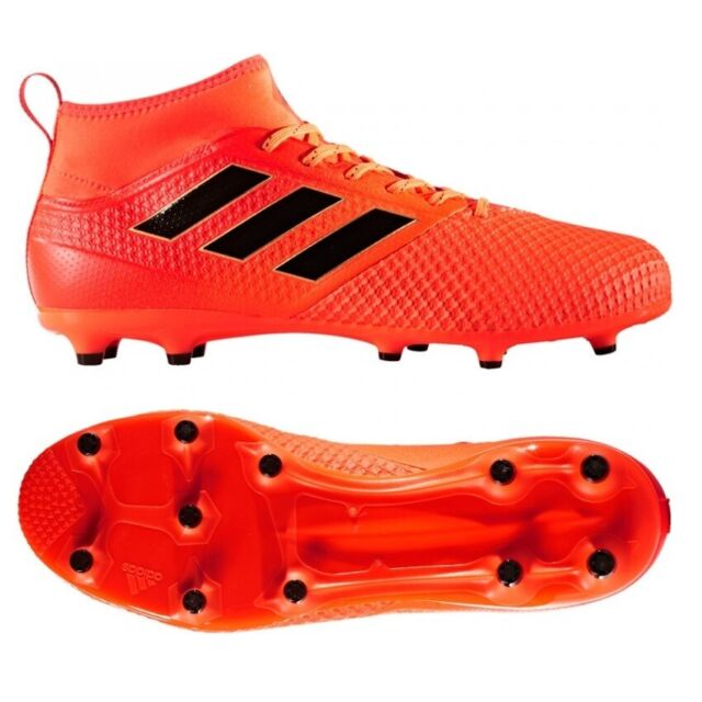 Mens adidas Ace 17.3 FG Firm Ground Orange Sock Football Boot UK 9 EU 43 1.3