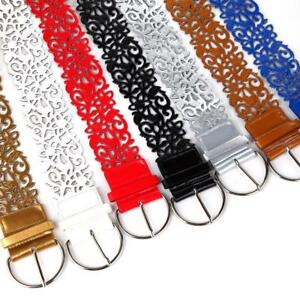 Women-039-s-Leather-Belts-Pin-Buckle-Punk-Hollow-Waistband-Wide-Clothing-Decorations