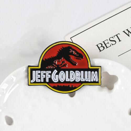 Jurassic Park Dinosaur Enamel Pin JEFF GOLDBLUM Brooch Badge Collection