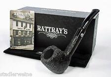 Rattray's Pfeife Kelpy gebürstet / Half-Bent Pot / 9 mm