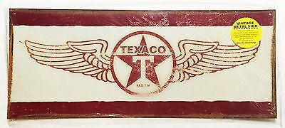 "Texaco Wings Metal Tin Sign 7/"" x 17/"" #10079"