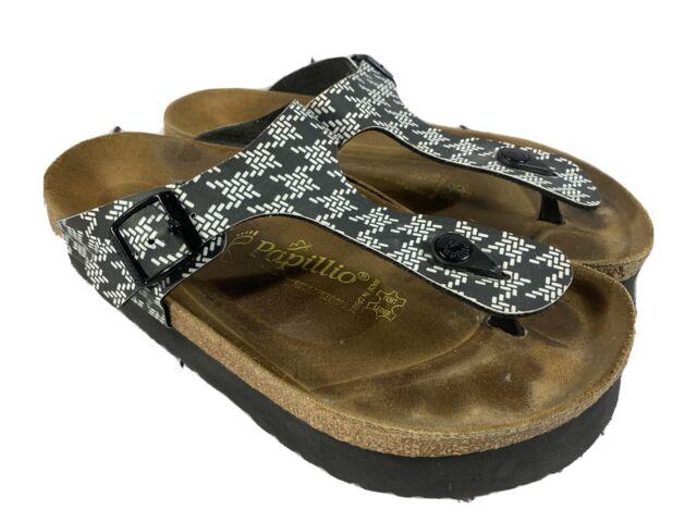 Papillio Birkenstock Geometric Shapes platform thong sandals 10 R / 41 EUC!!