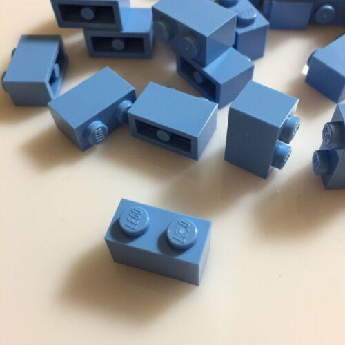 "modular /""Light Blue/"" 50 NEW LEGO 1x2 Medium Blue ID 3004//4179833 bricks"