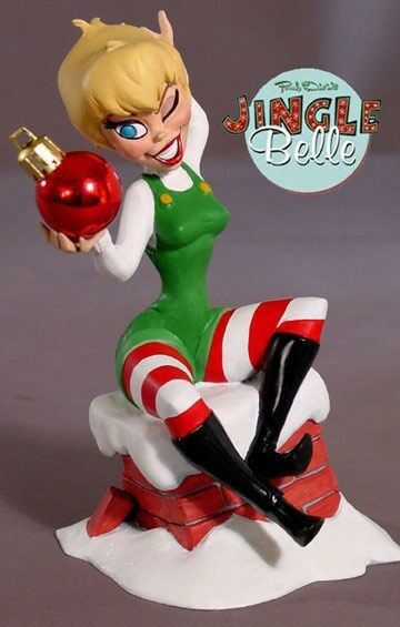 Jingle Belle Red Ball Statue Electric Tiki ltd 1000 Paul Dini Tony Cipriano NEW