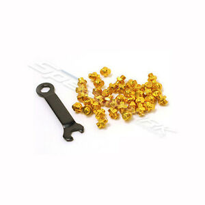Gold Wellgo Aluminum Alloy M4 Bike Bicycle Cycling Pedals Replacement Pins