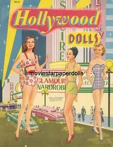 VINTGE 1950S BEAUTIFUL MODELS PAPER DOLL ~PRETTY LASER REPRODUCTION~ORG SZ UNCUT